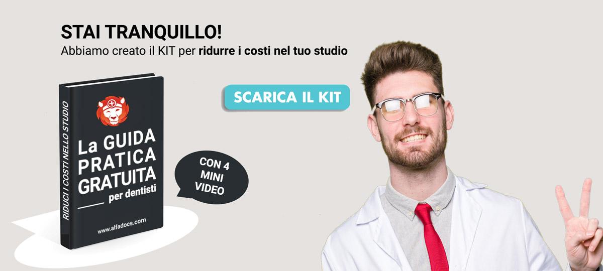 Scarica ora il KIT di AlfaDocs per ridurre i costi nel tuo studio odontoiatrico!